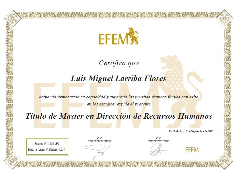 Dirección de Recursos Humanos - EFEM